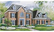 European House Plans color front elevation.