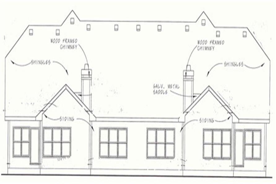 Home Plan Rear Elevation of this 3-Bedroom,2060 Sq Ft Plan -120-1553