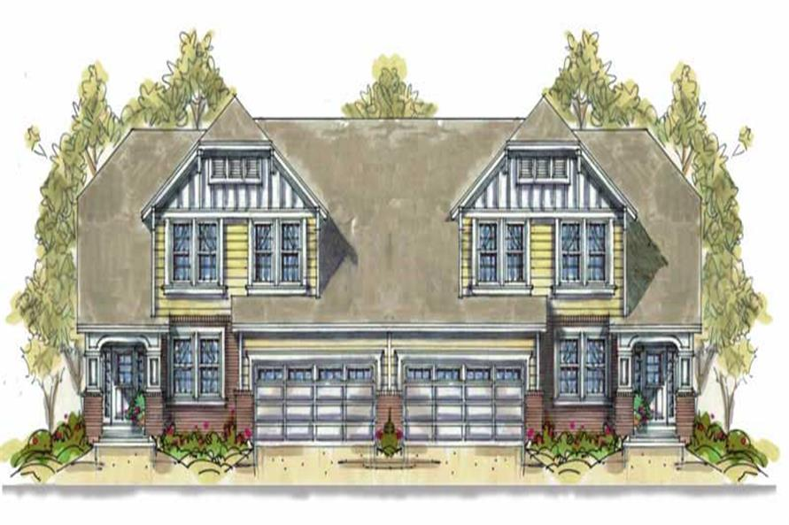 3-Bedroom, 2060 Sq Ft Multi-Unit House Plan - 120-1553 - Front Exterior
