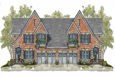 3-Bedroom, 2051 Sq Ft French House Plan - 120-1554 - Front Exterior