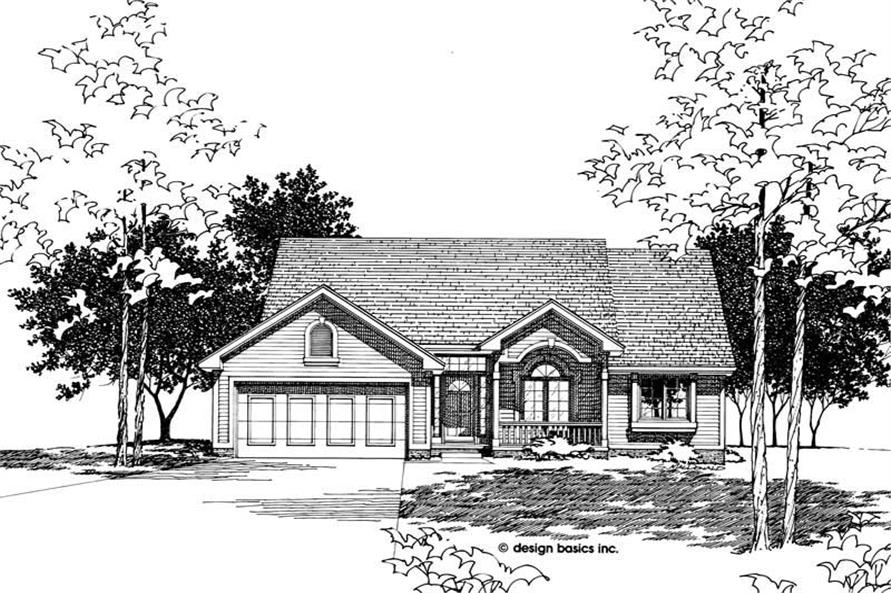 Front Elevation of this 2-Bedroom,1479 Sq Ft Plan -1479