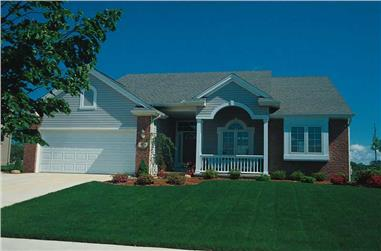 2-Bedroom, 1479 Sq Ft Small House Plans - 120-1556 - Front Exterior