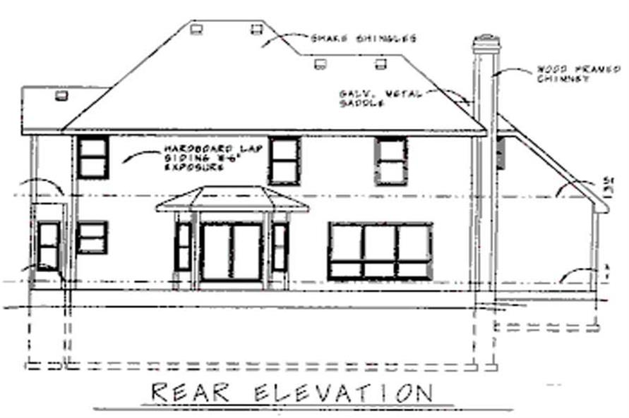 Home Plan Rear Elevation of this 4-Bedroom,2523 Sq Ft Plan -120-1561