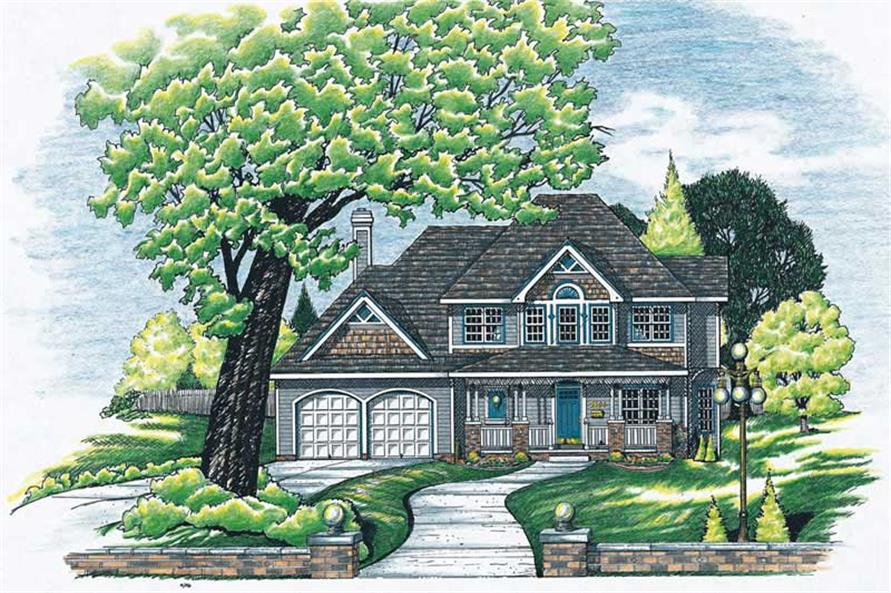 4-Bedroom, 2523 Sq Ft Country House Plan - 120-1561 - Front Exterior