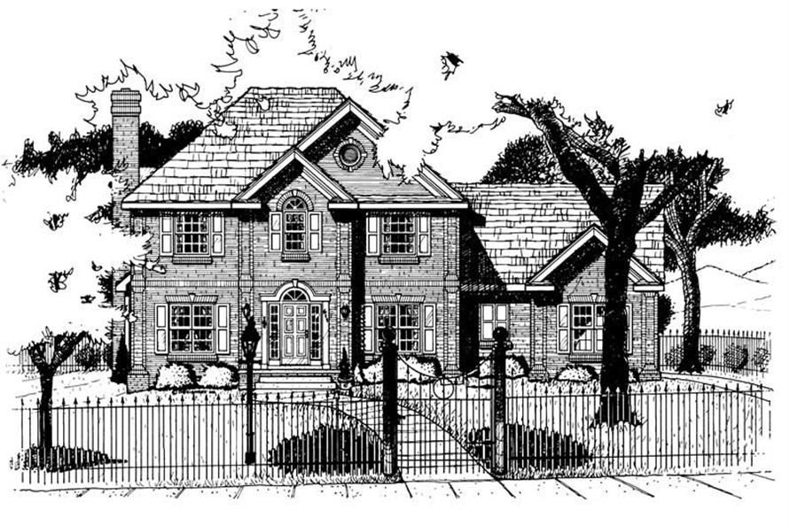 4-Bedroom, 2613 Sq Ft Colonial House Plan - 120-1562 - Front Exterior