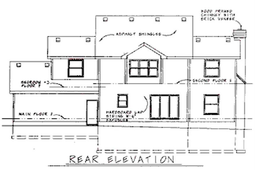Home Plan Rear Elevation of this 4-Bedroom,2282 Sq Ft Plan -120-1563