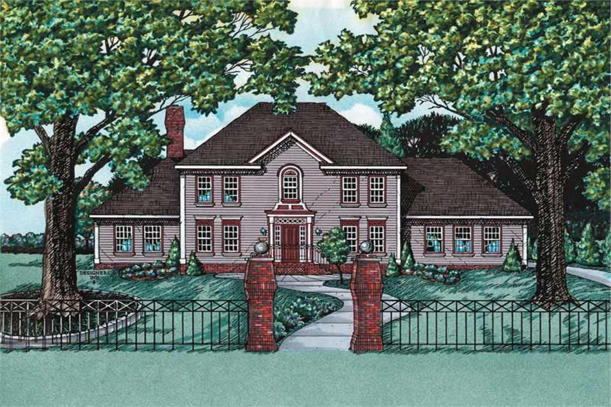 Main image for house plan # 6200