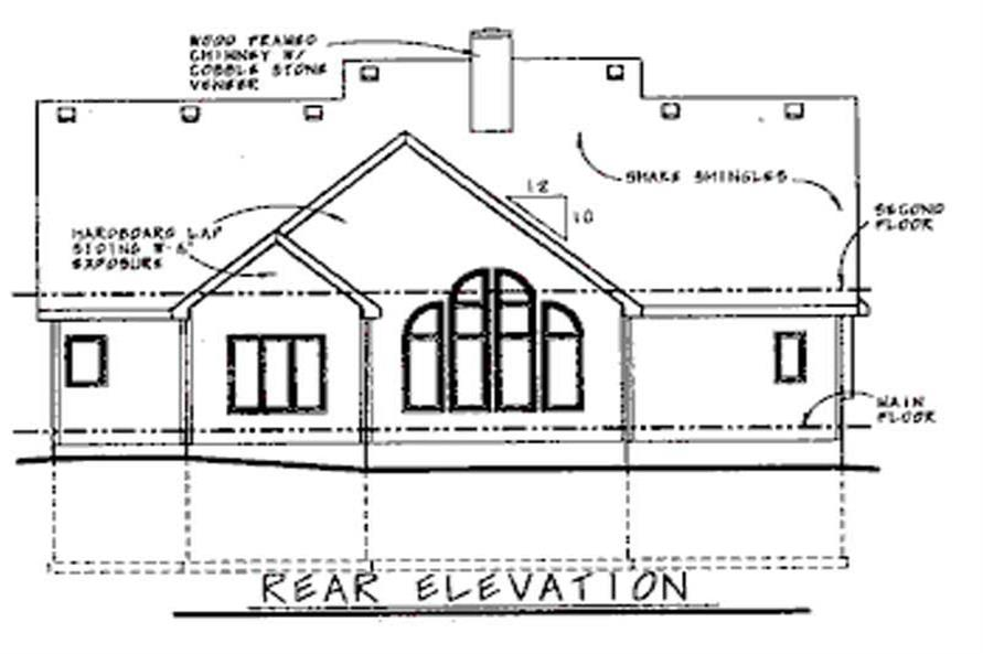 Home Plan Rear Elevation of this 4-Bedroom,2351 Sq Ft Plan -120-1565