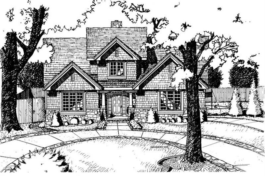 Home Plan Rendering of this 4-Bedroom,2351 Sq Ft Plan -120-1565
