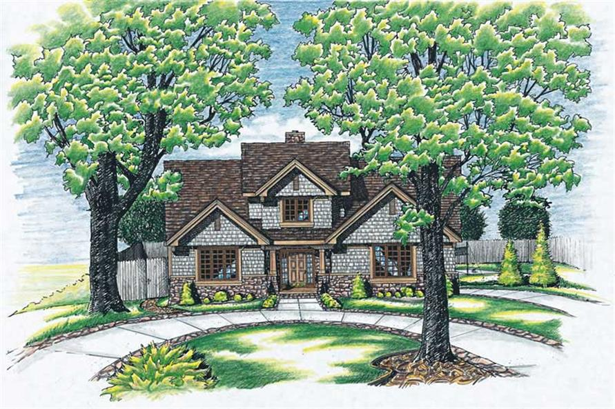 4-Bedroom, 2351 Sq Ft Traditional House Plan - 120-1565 - Front Exterior