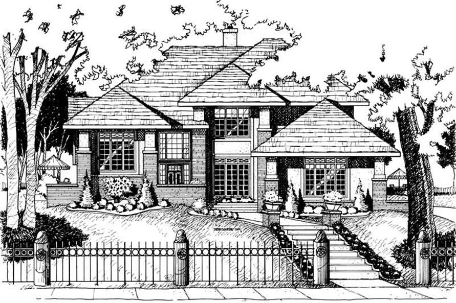 4-Bedroom, 2576 Sq Ft Craftsman House Plan - 120-1566 - Front Exterior