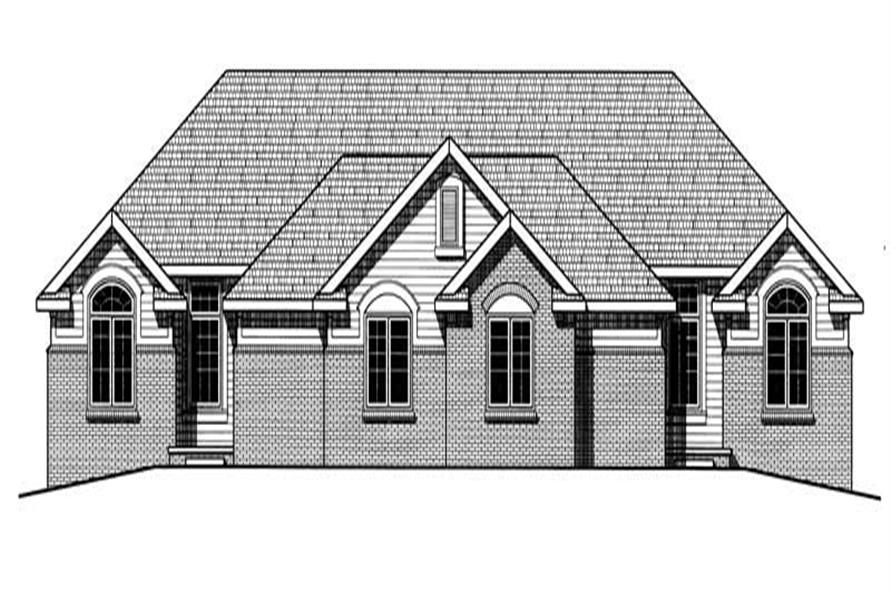 Home Plan Rendering of this 2-Bedroom,1908 Sq Ft Plan -120-1567