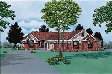 2-Bedroom, 1908 Sq Ft Multi-Unit House Plan - 120-1567 - Front Exterior