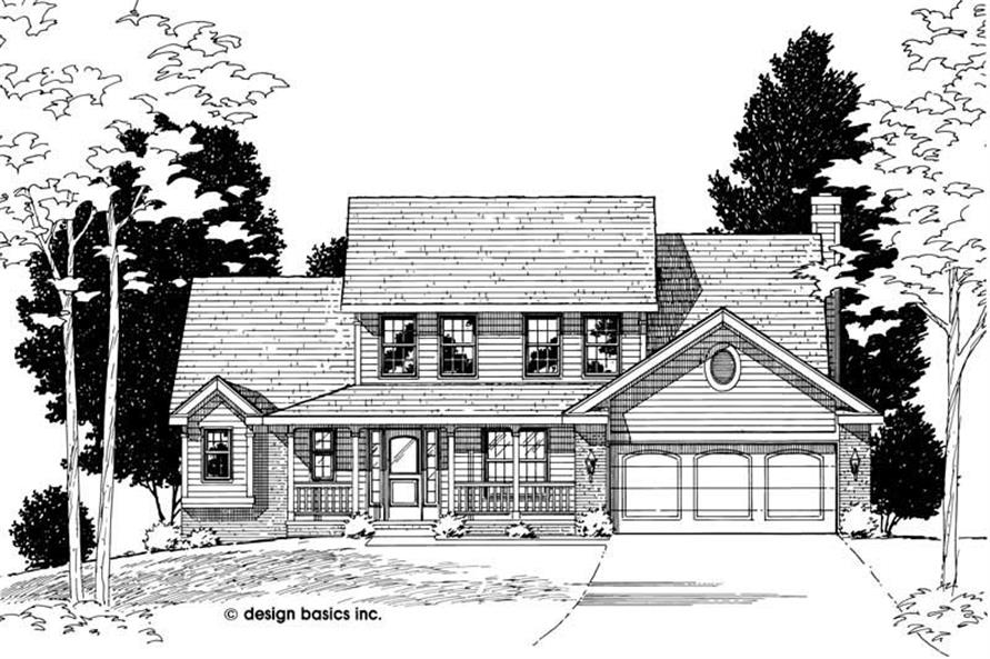 Home Plan Rendering of this 4-Bedroom,1984 Sq Ft Plan -120-1568