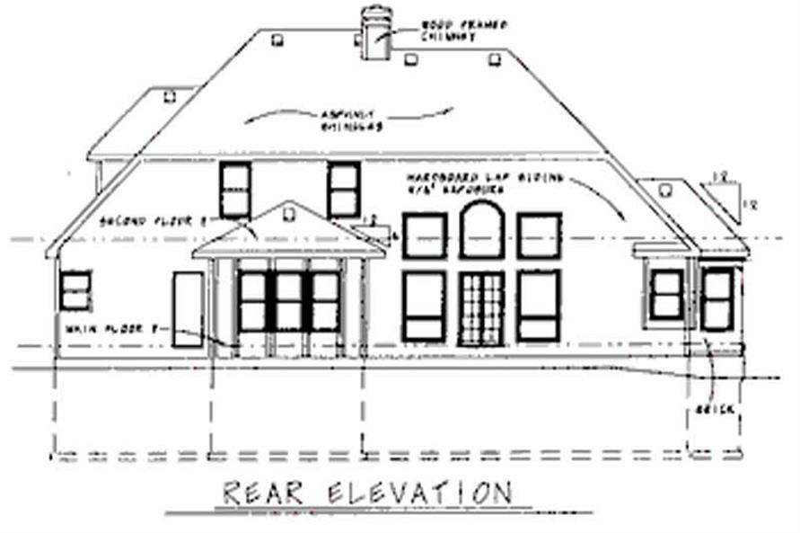 Home Plan Rear Elevation of this 4-Bedroom,3040 Sq Ft Plan -120-1570