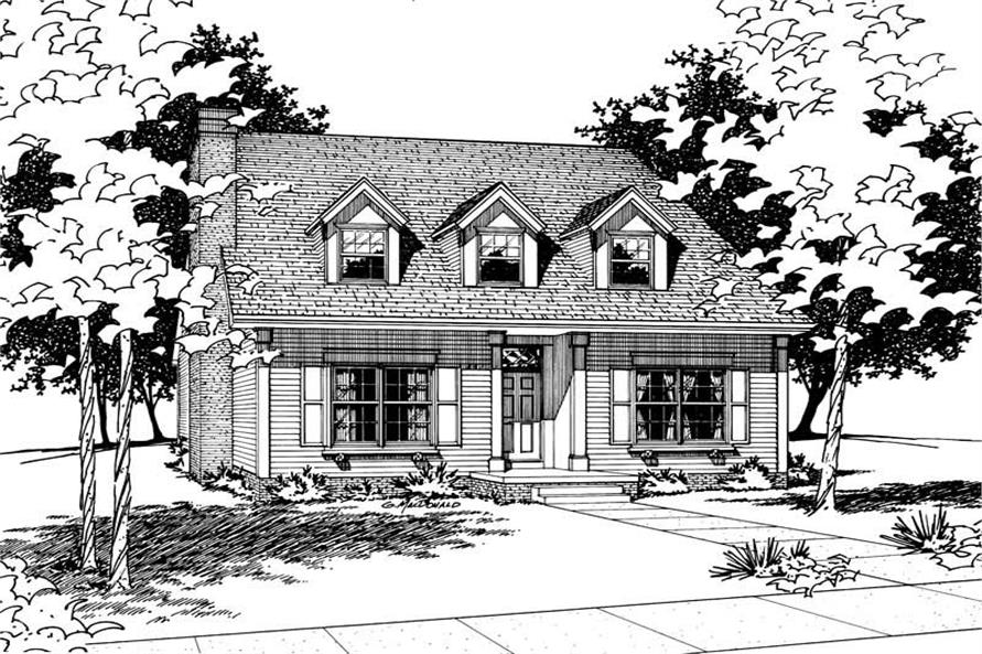 Home Plan Rendering of this 3-Bedroom,2290 Sq Ft Plan -120-1578