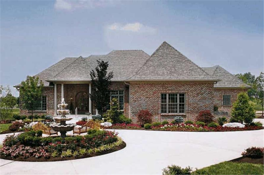 Front View of this 3-Bedroom,3312 Sq Ft Plan -120-1586