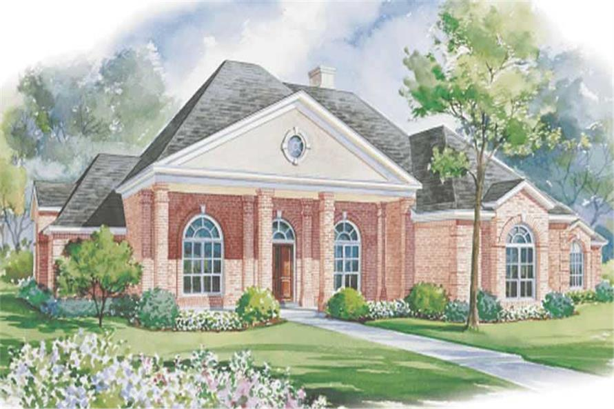 3-Bedroom, 3590 Sq Ft Colonial House Plan - 120-1588 - Front Exterior