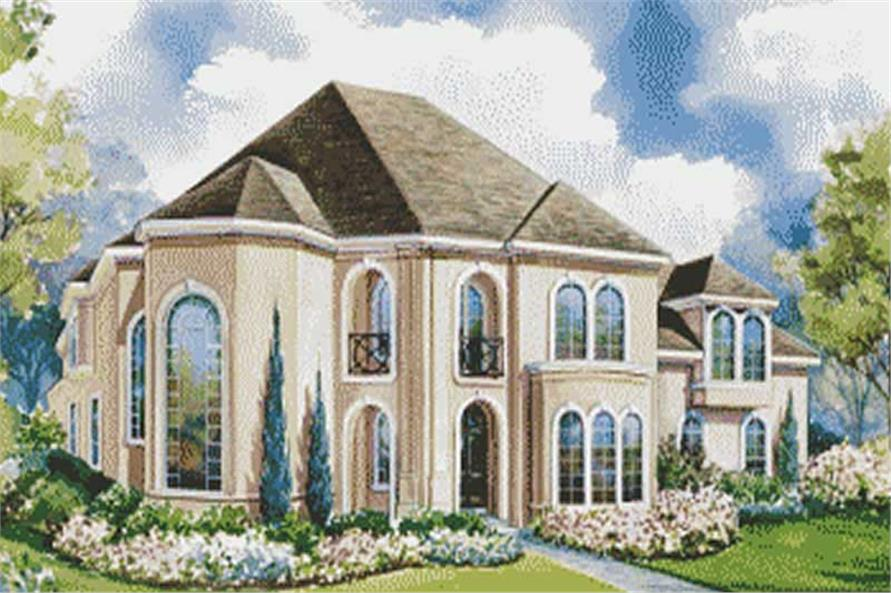 4-Bedroom, 3774 Sq Ft Contemporary House Plan - 120-1593 - Front Exterior