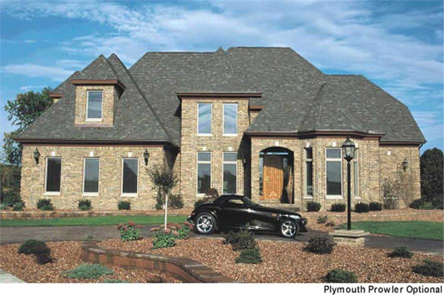 4-Bedroom, 4087 Sq Ft European House Plan - 120-1594 - Front Exterior