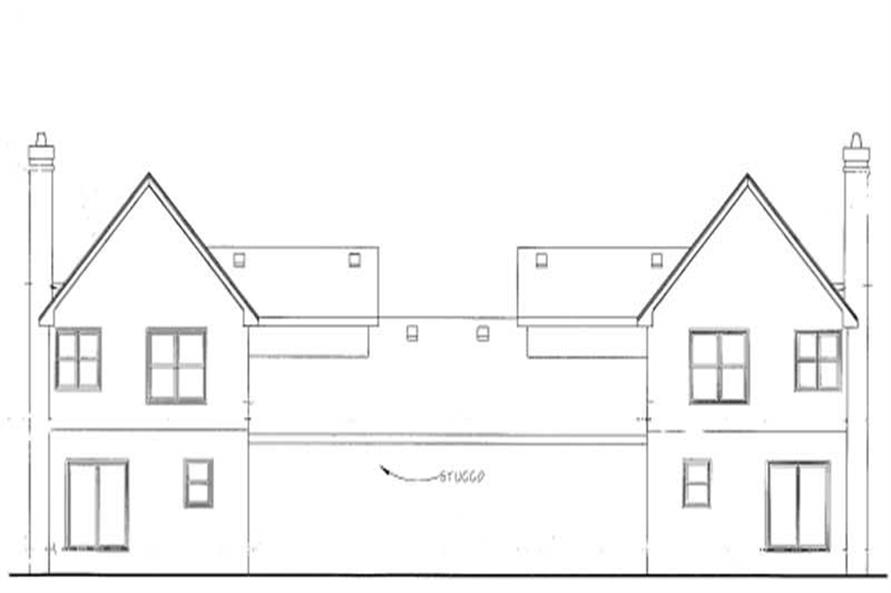 Home Plan Rear Elevation of this 3-Bedroom,1715 Sq Ft Plan -120-1602