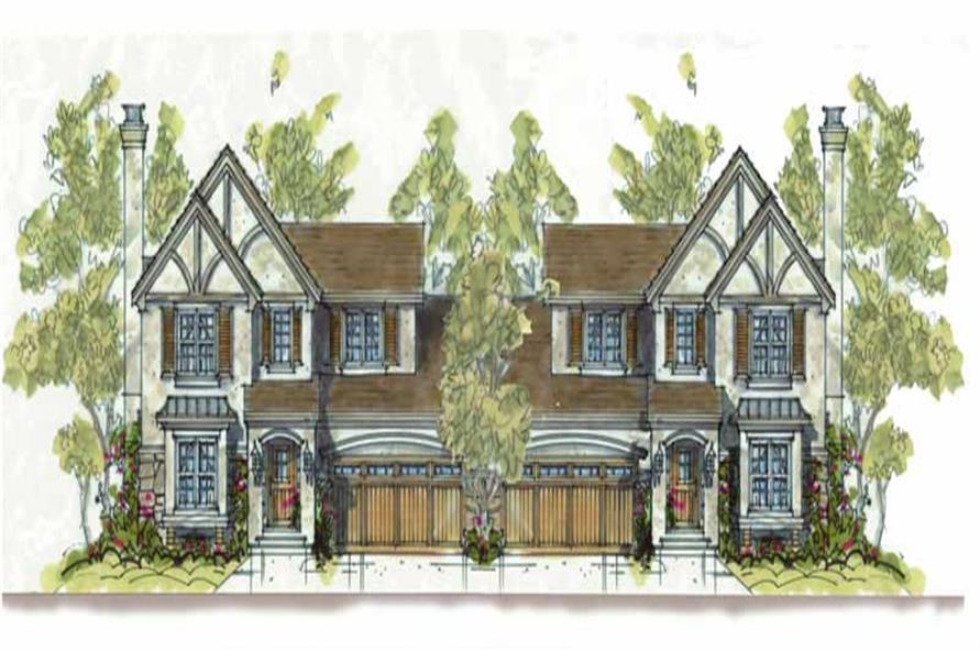 3-Bedroom, 1715 Sq Ft European House Plan - 120-1602 - Front Exterior