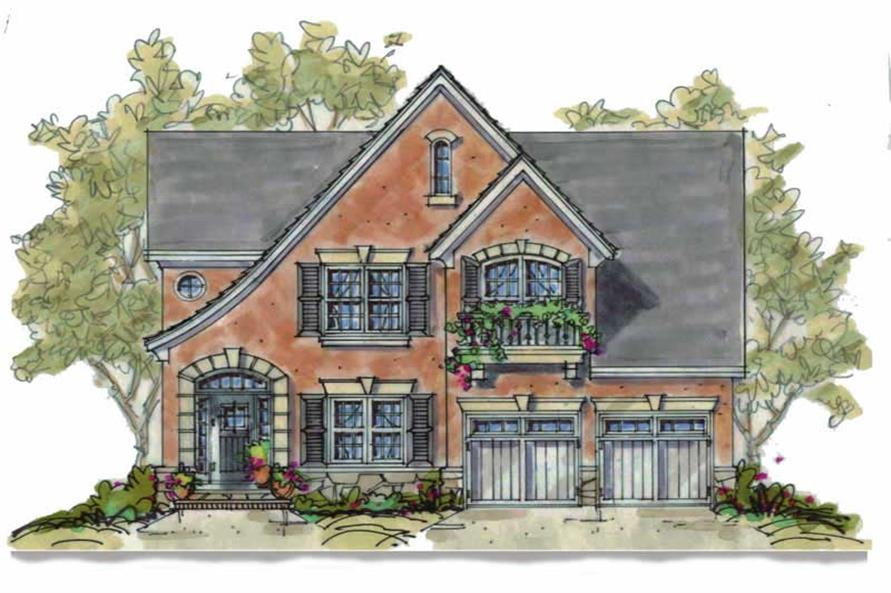 3-Bedroom, 2051 Sq Ft French House Plan - 120-1604 - Front Exterior