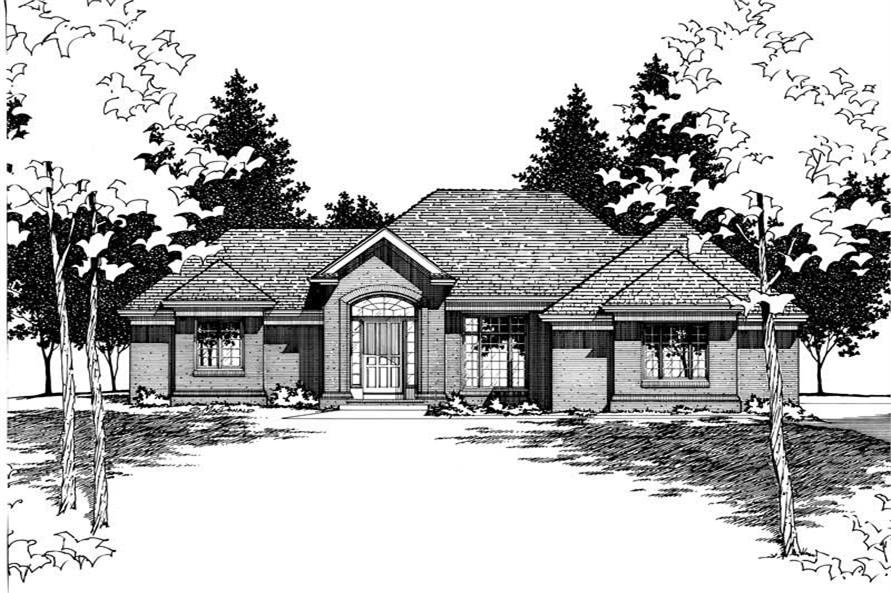 Home Plan Rendering of this 3-Bedroom,2083 Sq Ft Plan -120-1607