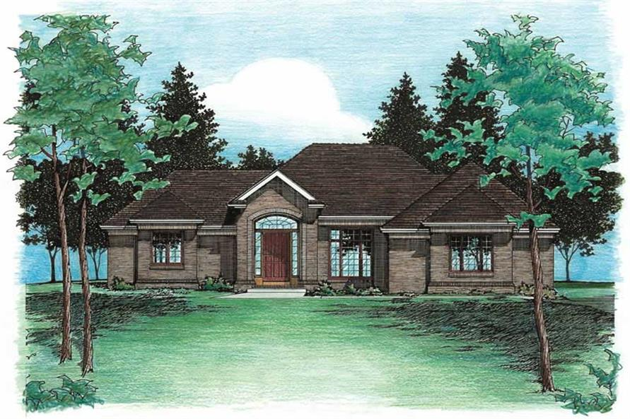 3-Bedroom, 2083 Sq Ft Ranch Home Plan - 120-1607 - Main Exterior