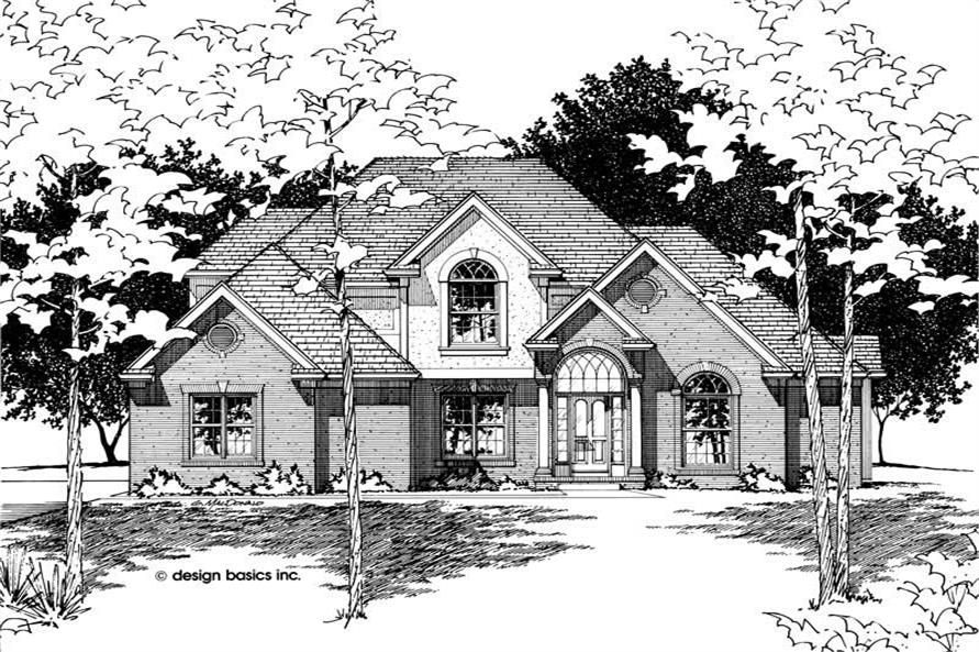 Front Elevation of this 4-Bedroom,2496 Sq Ft Plan -2496