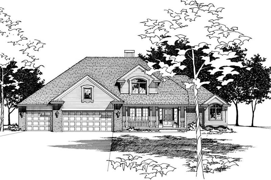 Home Plan Rendering of this 4-Bedroom,2282 Sq Ft Plan -120-1609