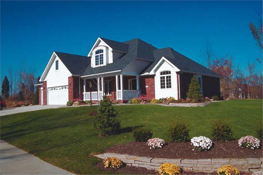 4-Bedroom, 2282 Sq Ft Country Home Plan - 120-1609 - Main Exterior