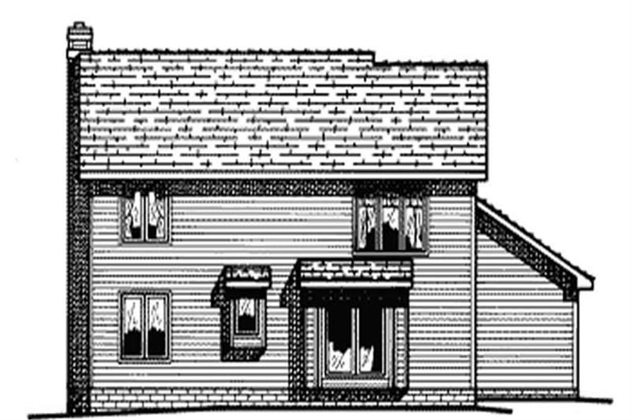 Home Plan Rear Elevation of this 4-Bedroom,2099 Sq Ft Plan -120-1612