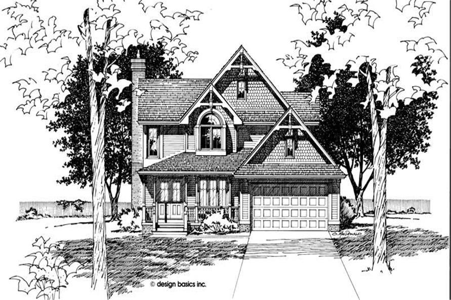 Front Elevation of this 3-Bedroom,1768 Sq Ft Plan -1768