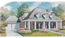 Colonial Plans color front rendering.