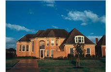 European houseplans Crescent Manor color rendering.