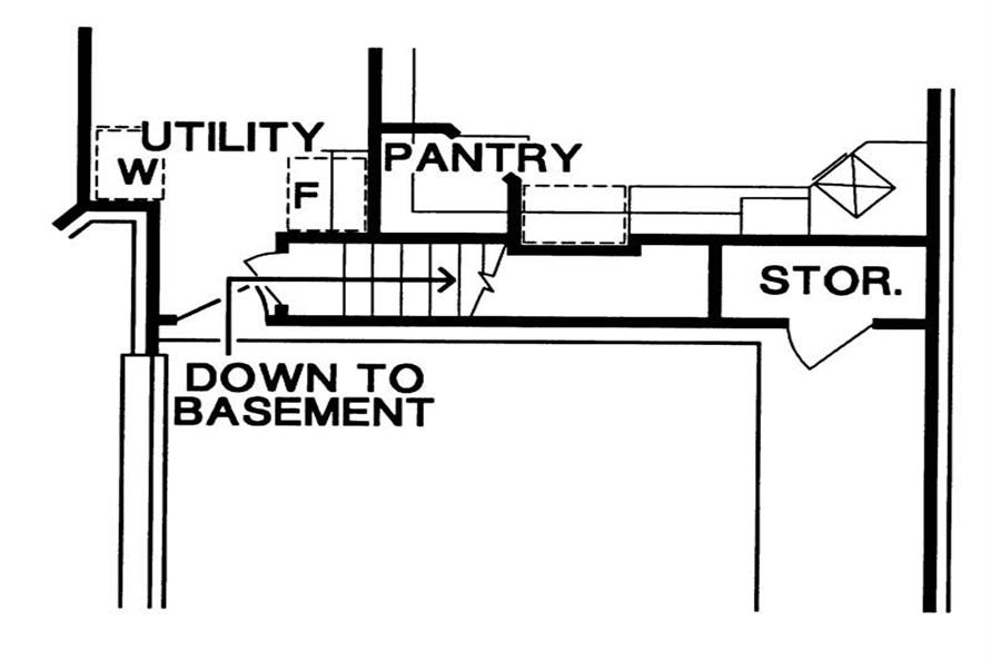 Basement Stairway of this 4-Bedroom,3863 Sq Ft Plan -3863