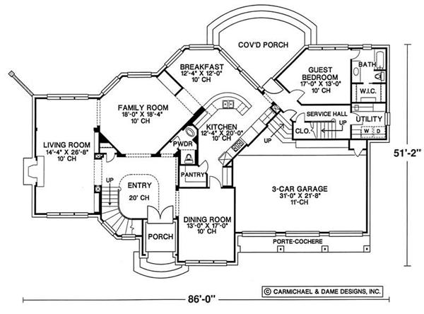 Country House Plan 3132D - Mother-in-Law Suite by SearchHomePlans.com