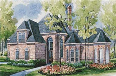 4-Bedroom, 4037 Sq Ft European House Plan - 120-1625 - Front Exterior