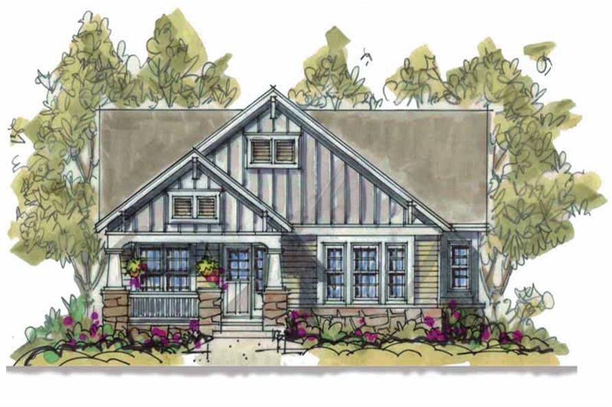 2-Bedroom, 1580 Sq Ft Bungalow House Plan - 120-1629 - Front Exterior