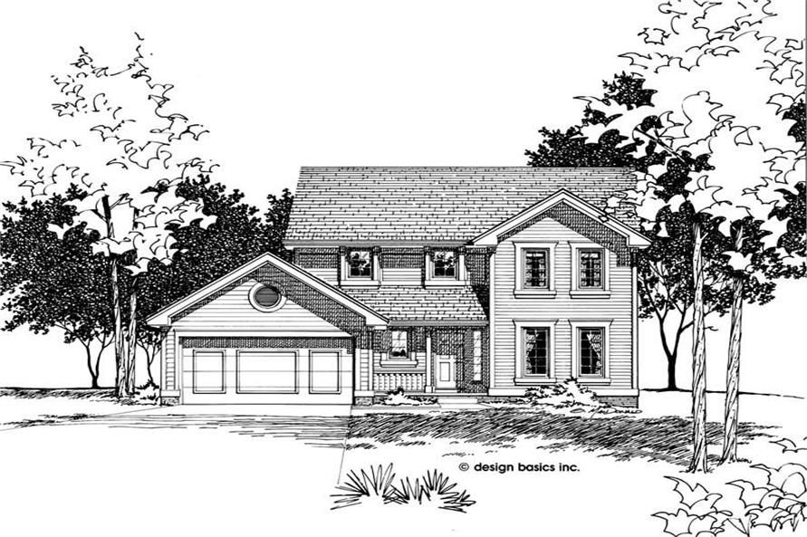 Main image for house plan # 6090