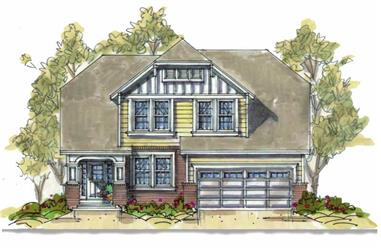 3-Bedroom, 2060 Sq Ft Ranch House Plan - 120-1636 - Front Exterior