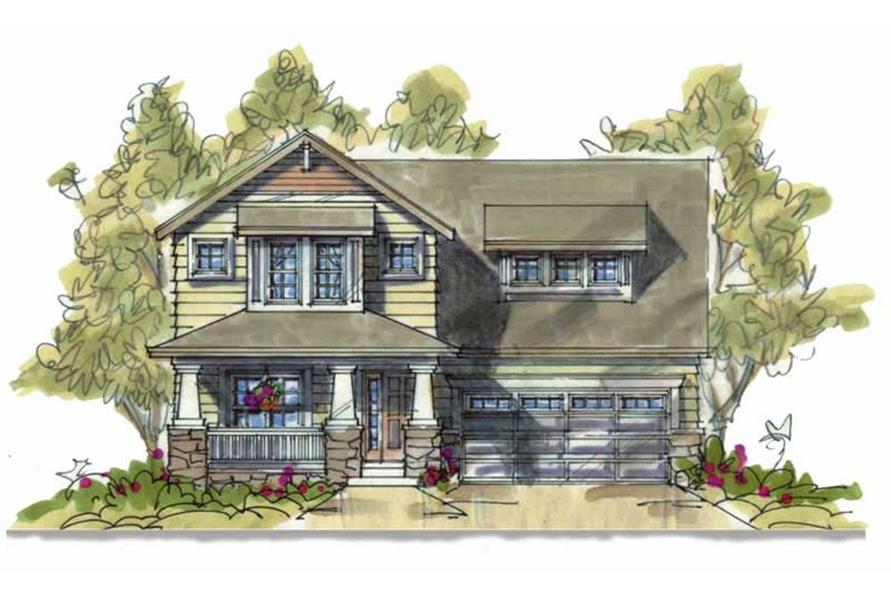Home Plan Rendering of this 3-Bedroom,1568 Sq Ft Plan -120-1639