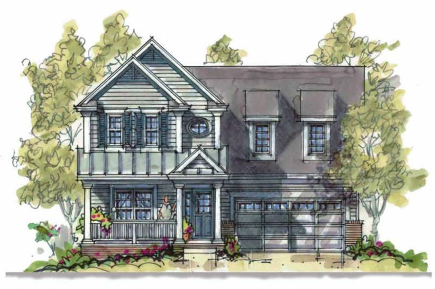 3-Bedroom, 1575 Sq Ft Country House Plan - 120-1640 - Front Exterior