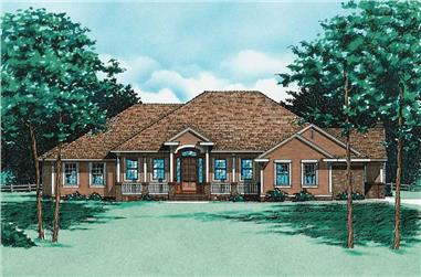 4-Bedroom, 2994 Sq Ft Ranch House Plan - 120-1642 - Front Exterior