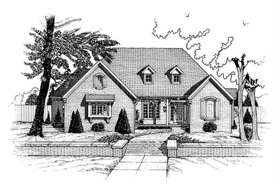 3-Bedroom, 2143 Sq Ft Transitional House Plan - 120-1643 - Front Exterior