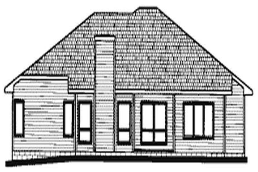 Home Plan Rear Elevation of this 3-Bedroom,1931 Sq Ft Plan -120-1645