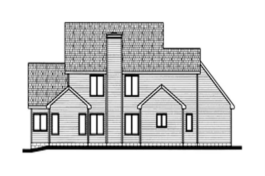 Home Plan Rear Elevation of this 4-Bedroom,2734 Sq Ft Plan -120-1648