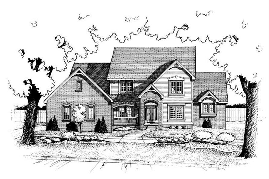 4-Bedroom, 2734 Sq Ft Traditional House Plan - 120-1648 - Front Exterior