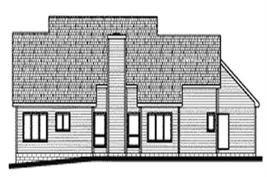 Home Plan Rear Elevation of this 3-Bedroom,2040 Sq Ft Plan -120-1649